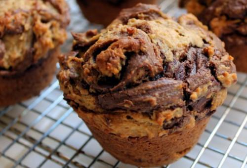 muffin, cioccolato, cucina, ricette, ricetta, muffin alla nutella, nutella