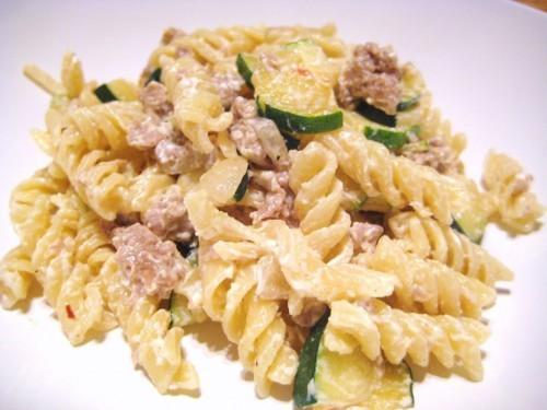 cucina, ricette, ricetta, salsicce, ricotta, zucchine, primi piatti, primi con ricotta,